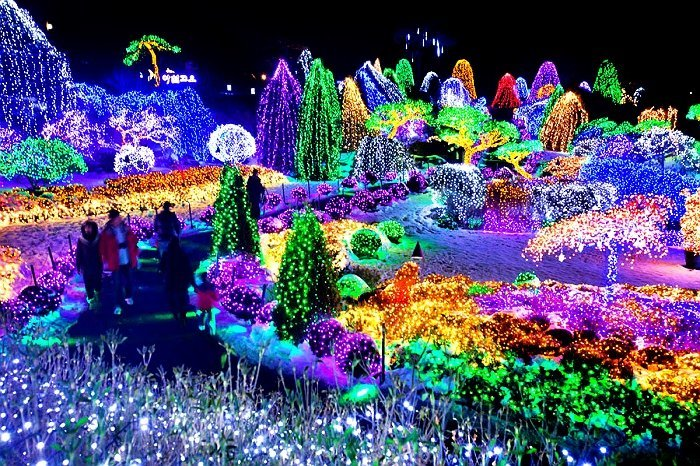 Lighting festival at Garden of morning calm
