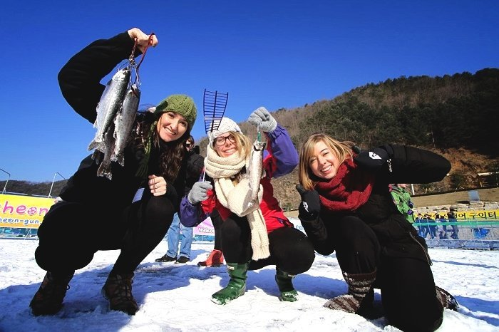 Ice fishing festival